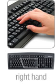 Using the Half-QWERTY Keyboard with the right hand